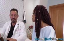 Black hottie gets pussy cum filled