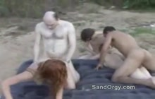 Orgy on a beach