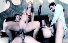 Two domino sluts enjoyed enjoys swinger club's rollercoster sex