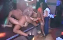 Crazy fuck fest in a strip club