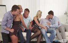 Bisexuals enjoying hardcore group sex in orgy