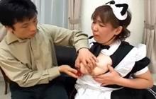 3 Japanese maids having an orgy