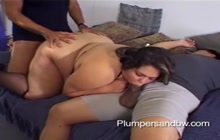 BBW and Asian friend in foursome