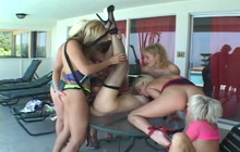 Lesbian orgy with a help of sex toys