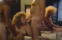 Vintage orgy with hot girls