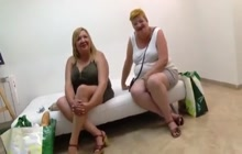 Two young guys and two mature BBWs