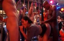 Hot party sluts in action